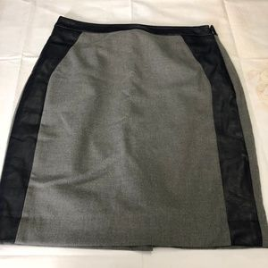 The Limited Women's Skirt Gray and Blue w/ Leather
